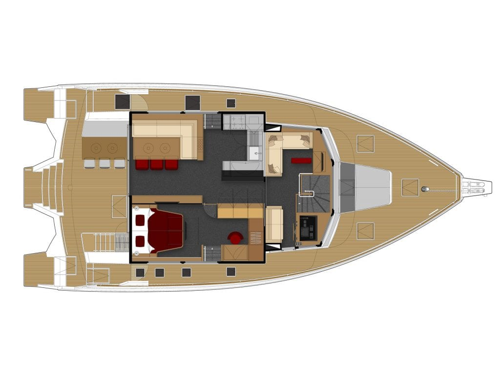 LEEN 56 layout powered trimaran