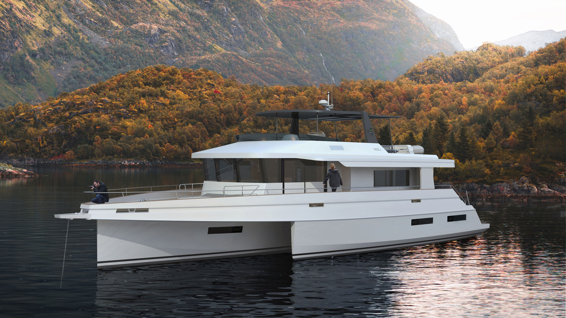 LEEN-TRIMARANS, the trimaran cruiser specialist and AUSTAL, the global passenger boat manufacturer, are using the same technical solution.