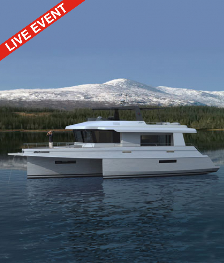 Worldwide launch of the hybrid explorer trimaran: LEEN 56